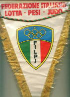 W202 / SPORT  Federazione Italiana Lotta Pesi Judo  24 X 32.5 Cm. Wimpel Fanion Flag  Italia Italy Italie Italien Italie - Worstelen