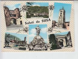 REF26.222 ITALIE. SALUTI DA SUSA. SIX VUES  TIMBRE : SPEDIZIONE DEI MILLE 15 LIRE S - Andere