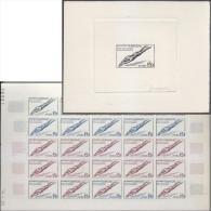 Sénégal 1960 Y&T 218.Feuille D'essais De Couleurs Et épreuve D'artiste. Jeux De L'amitié. Plongeon - Kunst- Und Turmspringen