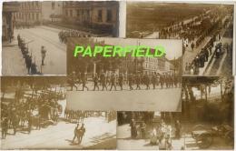 RARE Lot De 5 Cartes Postales Envoyées De GLEIWITZ (GLIWICE) 1921 Funérailles Militaires Soldats Français HAUTE SILESIE - Militaria