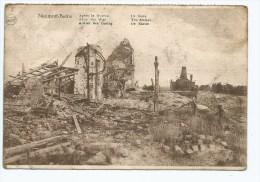 M-A@ CPA NIEUPORT LES BAINS, LA GARE APRES LA GUERRE THE STATION AFTER THE WAR, DE STATIE ACHTER DEN OORLOG, NIEWPOORT - Nieuwpoort