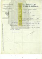 39 - Jura - LE TRABOZ - Facture MICHAUD - Scierie - Commerce De Bois - Menuiserie-ébénisterie - 1924 - REF 15 - 1900 – 1949