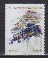 """Série Artistique. Personnalité. Joan Mitchell (1925-1992), Artiste-peintre Américaine. Peinture """"Sans Titre"""" (1992). - Francia"""