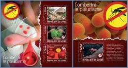 gu14109ab Guinea 2014 Malaria Insect 2 s/s