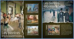 Gu14108ab Guinea 2014 Painting Impressionists 2 S/s - Impressionisme