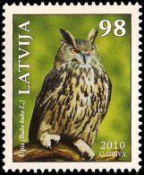 Latvia Lettland Lettonie 2010 (08-2) Birds Vogel Oiseaux - Eagle - Owl - Lettonia