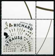 BRD - Michel 3086 - ** Postfrisch Eckrand Oben Rechts - 60C Richard Strauss - Ausg.: 5.6.2014 - Ungebraucht