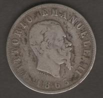 ITALIA 2 LIRE 1863 VITTORIO EMANUELE II AG SILVER - 1861-1946 : Regno