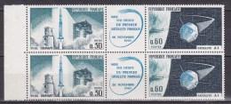 N° 1465A Lancement Du 1er Satélite National à Hammguir. 1 Paire De 2 Timbres - Unused Stamps