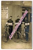 72 - LE MANS : MARCHAND DE CYCLES G. AUMONT, 17 Av. D'ALENCON. CARTE PHOTO. - Le Mans
