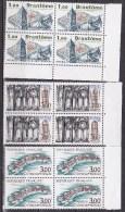 N° 2253 à 2255 Série Touristique: Brantôme,Concarneau,Buèree Allichamps: Série En Bloc De 4 Timbres - Ungebraucht