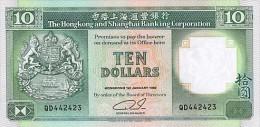 Hong Kong 10 Dollars 1992 Pick 191c UNC - Hong Kong