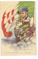 CASTELLI - ART DECO POSTCARD 1920s - YOUNG MILITARY WITH ITALIAN FLAG - Non Classés