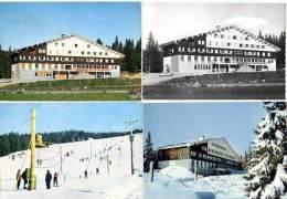 4 Cpsm Prémanon, Centre De Montagne Des Jacobeys (ski, Citroën Ds) - Autres Communes