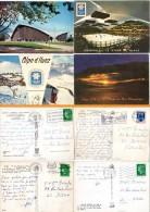 4 Cpsm Alpe D'Huez, Grenoble, Patinoire, Luge,  Jeux Olympiques - France