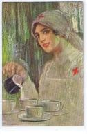 VECCHI - ART DECO POSTCARD 1920s - RED CROSS NURSE - - Illustrateurs & Photographes