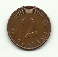 2000 - Lettonia 2 Santimi, - Lettonia