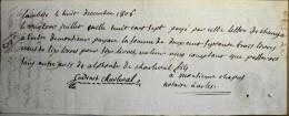 LETTRE De CHANGE De 273 Livres à L'ordre De Mr PAYAN - LAMBESC Le 8 Décembre 1806 - LOI Du 13 BRUMAIRE AN I - Lettres De Change