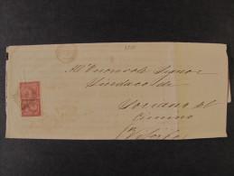 """ITALIA Regno-1866- """"T 15 Torino"""" C. 2 AMELIA>SORIANO NEL CIMINO (descrizione) - 1861-78 Vittorio Emanuele II"""