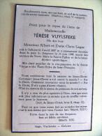 Thérèse  VUYLSTEKE °Geluwe 1897 + 1958 Dochter Van Albert En Claire Lagae. Imp. Vuylsteke - Obituary Notices