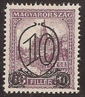 HUNGRIA 1930 - Yvert #437A - MLH * - Hungría