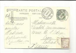 No 66 Sur CP De Beatenberg Avec Complément Taxe Pour La France - Marcophilie