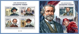 bur13316ab Burundi 2013 Classic music Giuseppe Verdi 2 s/s Michel:3258-3261 3262 / Bl.376