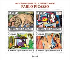Bur13318a Burundi 2013 Painting Pablo Picasso S/s Michel:3313-3316 - Picasso