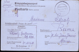 REIMS TERRITOIRE OCCUPE MADAME STRATZ 71 AVENUE JEAN JAURES / LONGUE CORRESPONDANCE - Guerre De 1939-45