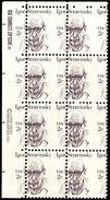 USA 1982  Y&T 1462.  Bloc De 8, Piquage à Cheval. Igor Stravinsky, Compositeur. Neufs Sans Charnières. MNH - Musique