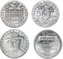 ITALIA REPUBBLICA 2004 - 2 Monete Argento Celebrative 5€+10€ Giacomo Puccini - Dittico FDC - Italy