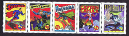 1995  Comic Book Superheroes  Scott 1583a MNH Strip Of 5 - 1952-.... Reign Of Elizabeth II