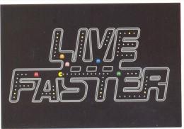 PROMOCARD N°  7908   LIVE FASTER - Pubblicitari
