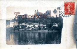 (16) Confolens  - Carte Photo - Ruines Du CHateau Vue Depuis La Vienne - Confolens