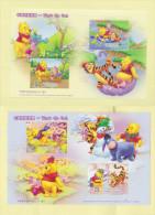 Cina China Winnie The Pooh 2 Foglietti Disney - 1949 - ... Repubblica Popolare