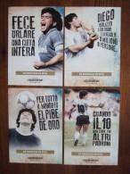 Diego Armando Maradona Football Player Argentina And Napoli Lot De 4 Cartes Postales - Soccer