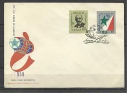ESPERANTO ZAMENHOF  POLAND 1959  FDC JUDAICA - Esperanto