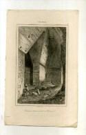 - GUATEMALA . INTERIEUR D'UNE MAISON A PALENQUE .  GRAVURE SUR ACIER 1ere1/2 XIXe S. - Archéologie