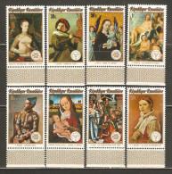 Rwanda 1974 Mi# 641-648 A ** MNH - INTERNABA, Stockholmia 74 / Paintings - 1970-79: Neufs