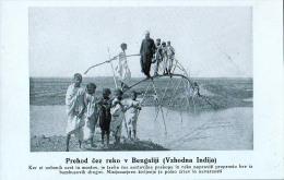 AK MISSIONEN SLOWENIEN BENGALSKA MISIJA Bengali MISSION ÜBERQUERUNG DES FLUSSES Auf Bambus - Missions