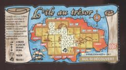 FRANCAISE DES JEUX - ILE AU TRESOR 49882 BABN 32 Mm - Trait Bleu - Billets De Loterie
