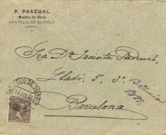 9074. Carta SAN FELIU De GUIXOLS (Gerona) 1897. Maestro De Obras - Covers & Documents