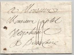- Lettre - SEINE - PARIS Pour BEAUCAIRE - DEBOURSES DE TOULOUSE Linéaire - 1785 - 1701-1800: Precursors XVIII