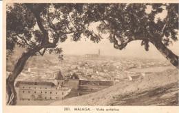 POSTAL    MALAGA  -ESPAÑA -  VISTA ARTÍSTICA - Málaga
