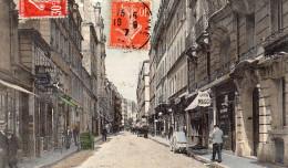 Cpa Chromo1907, PARIS, La Rue De Lancry, Commerces, Laiterie, Triperie,  Bar, Carrioles, Rue Pavée, Trottoirs (37.16) - Arrondissement: 10