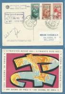 1953 - TRIESTE AMG FTT  FIERA DI TRIESTE CARTOLINA  SERIE E ANNULLO  UFFICIALI - Non Classificati