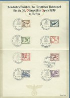 GERMANIA OLIMPIADI  BERLINO 1936 - LA SERIE E GLI ANNULLI UFFICIALI DEI GIOCHI - Altre Collezioni