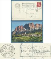 CORTINA VERSO POMAGAGNON + TARGHETTA CORTINA CAMP.MONDIALE BOB INVERNO 1937 - Non Classificati