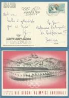 CORTINA 1956 VII GIOCHI OLIMPICI INVERNALI CARTOLINA E ANNULLO UFFICIALE - Other Collections