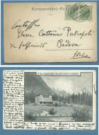 CORTINA D'AMPEZZO HOTEL MIRAMONTI  MIT ANTELA0 V SORAPIS - ANNULLO AUSTRIA 1907 - Altre Collezioni